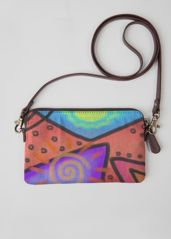 Leather Statement Clutch - Colorful Abstract Woman by VIDA VIDA O2U7tQ7w