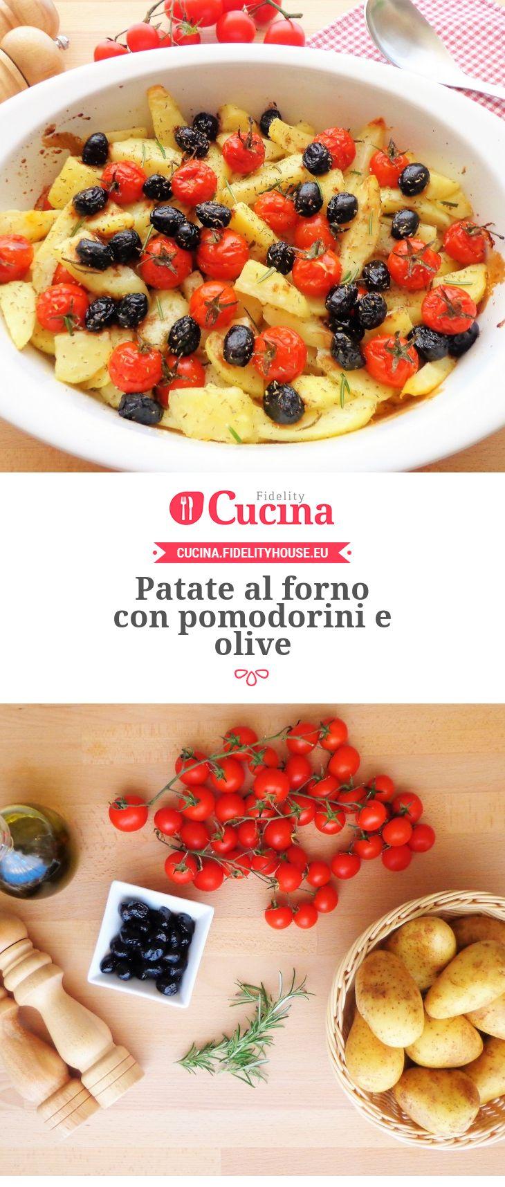 #Patate al forno con #pomodorini e #olive della nostra utente Magdalena. Unisciti alla nostra Community ed invia le tue ricette!