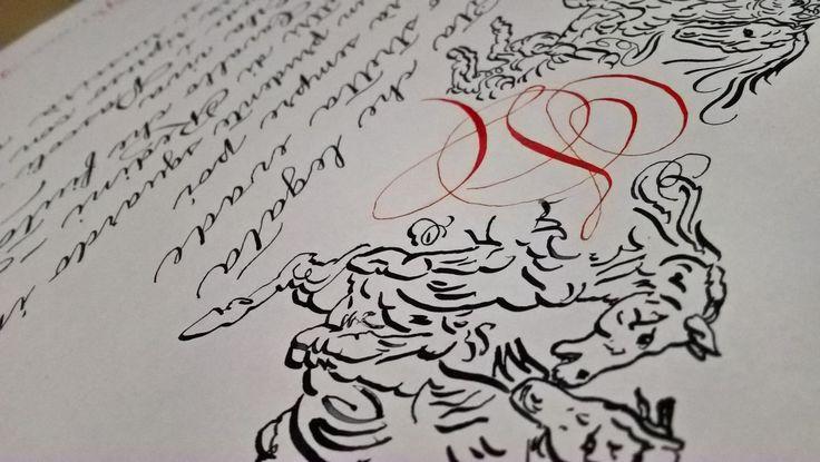 Una poesia di Emily Dickinson in Spencerian per celebrare la libertà di un'unione civile tanto attesa. Celebrare un'unione civile è un traguardo che va festeggiato con la degna calligrafia per matrimonio. Info: https://www.bellascrittura.eu/calligrafia-per-matrimonio/