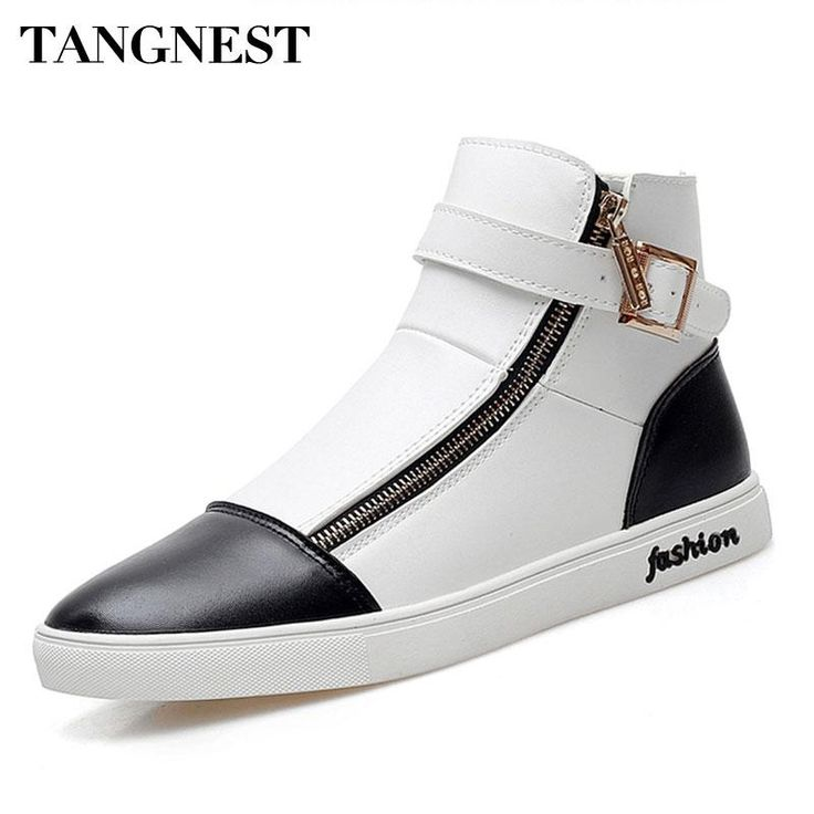 Now available on our store: Tangnest 2017 Aut... Check it out here! http://www.usmartny.com/products/tangnest-2017-autumn-new-men-high-top-shoes-fashion-side-zipper-mens-ankle-boots-pu-leather-casual-buckle-shoes-man-xmr2119?utm_campaign=social_autopilot&utm_source=pin&utm_medium=pin