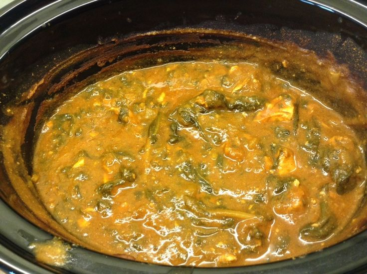 Slow cooker chicken saag curry by BakingQueen74