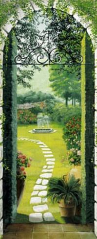 Vista dal Porticato Garden Doorway Door Poster