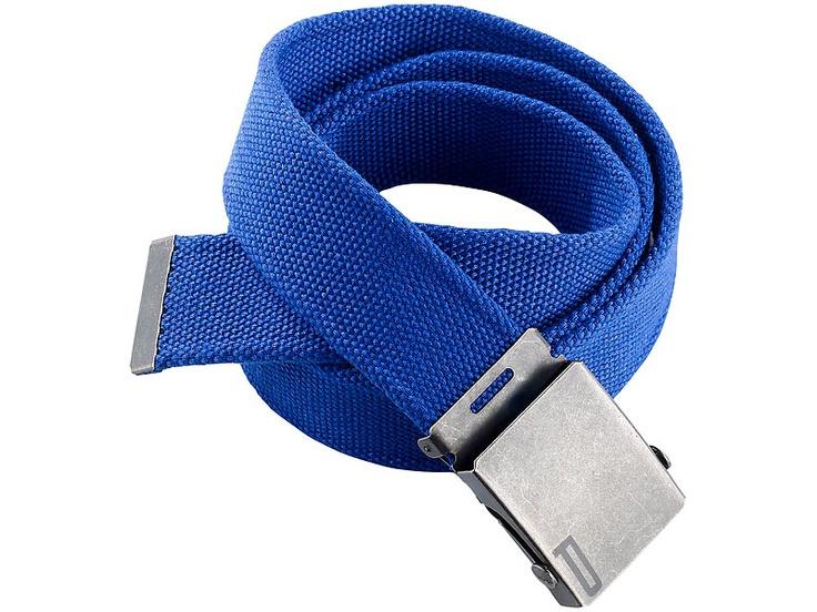 PEARL urban Stoffgürtel mit Metallschnalle, blau, 120 cm