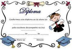 Resultado de imagen para diplomas de preescolar para editar e imprimir