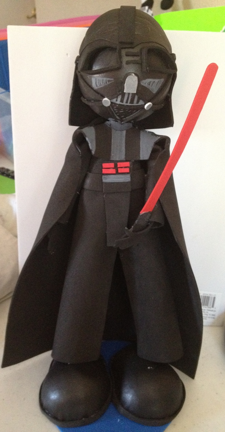 Dark Vader Fofucha Style Perfect to display In a Starwars party $23.00