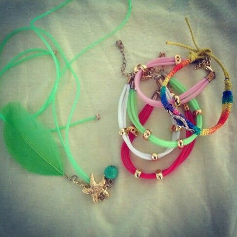Silicone bracelets & necklace