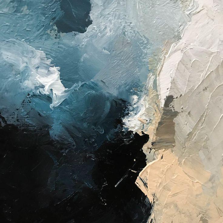 abstract palette knife painting by monika kralicek