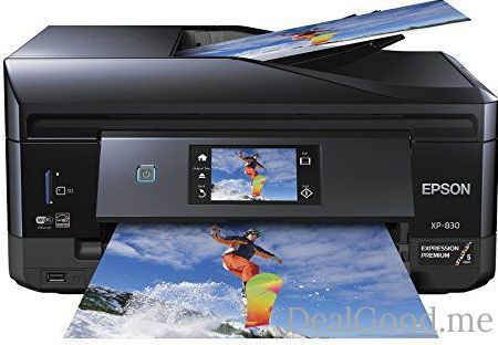 Epson XP-830 Wireless Color Photo Printer with Scanner Copier & Fax (C11CE78201)