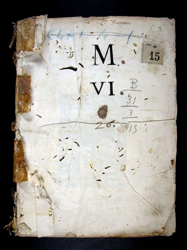 Restauració:  Bloc del llibre; neteja mecànica, neteja humida, reintegració de perforacions d'insectes.  Enquadernació perduda; nova enquadernació en pell.