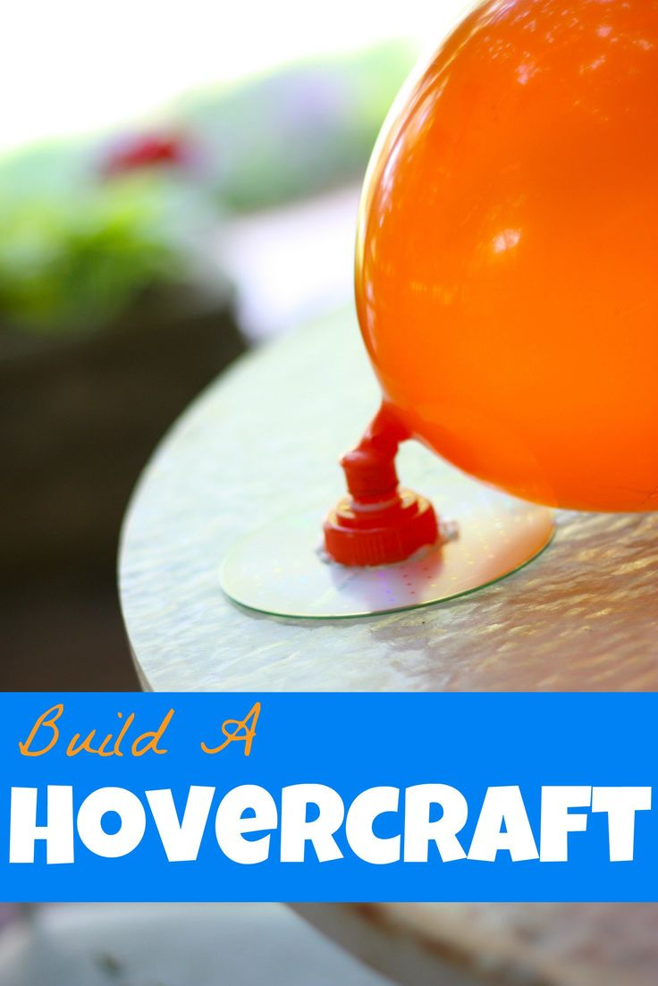 Make and build a hovercraft with just a few materials! Lots of fun for kids (and adults) of all ages and a great lesson in friction!