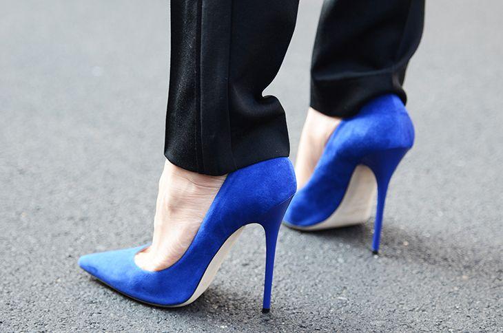 Синие туфли-лодочки