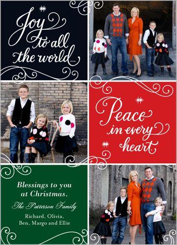 Joy Peace Blessings 5x7 Stationery Card by Hallmark   Shutterfly