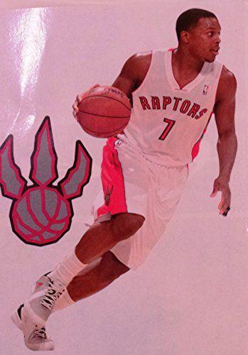 "Kyle Lowry Mini FATHEAD + Toronto Raptors Logo Official NBA Vinyl Wall Graphics 7"" INCH"