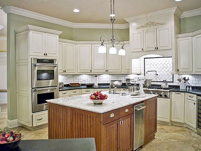 beautiful Painting Kitchen Cabinets Off White #2: 17 Best ideas about Off White Cabinets on Pinterest | Off white kitchen cabinets, Kitchen cabinets and Kitchens with white cabinets