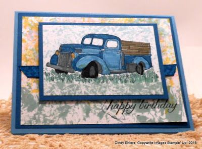 Using the Plastic Wrap & Reinker Technique and Stampin' Up! stamp set Country Living