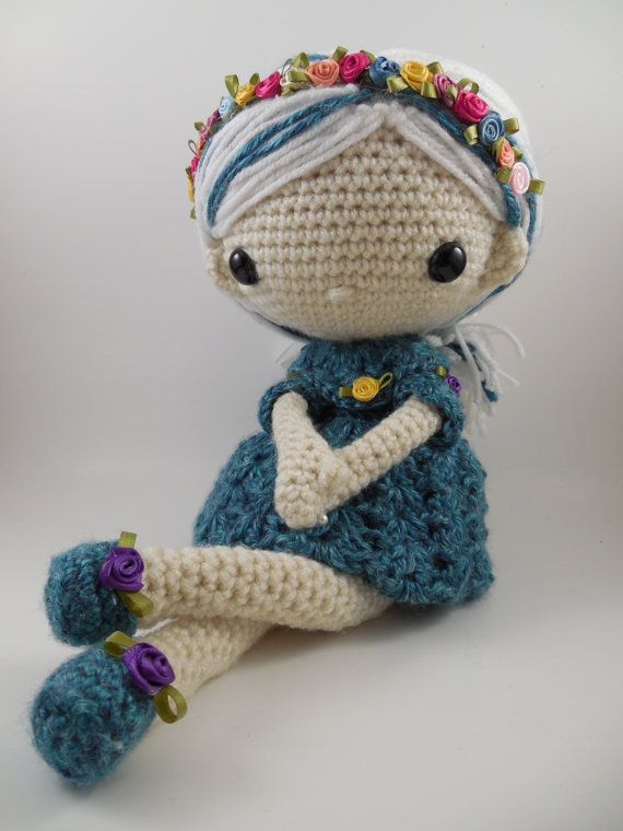 ♡ Azul  Amigurumi Doll Crochet Pattern PDF by CarmenRent on Etsy