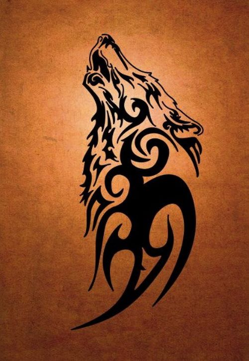 Tribal loup black tattoo design 2017 tattoo designs 2018 for Tattoo photos 2017