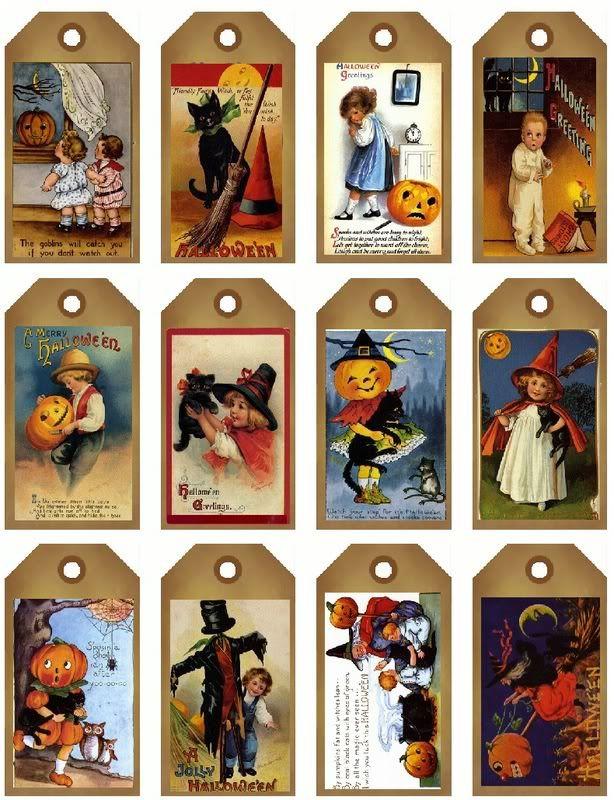 free vintage halloween printable