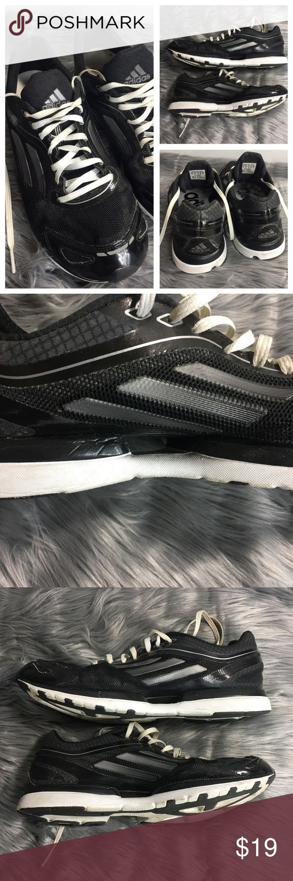 adidas Adizero Black Sz 10 Sprint Frame Running adidas Adizero Black Sz 10 Sprint Frame Lightweight Running Shoes Nice Pre-Owned Condition, Light Signs of Wear/Use Insoles are a bit Dirty, No Major Flaws, Sold as Pictured 