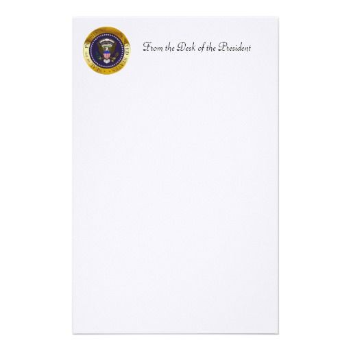 us great seal obverse reverse side stationery from the desk of