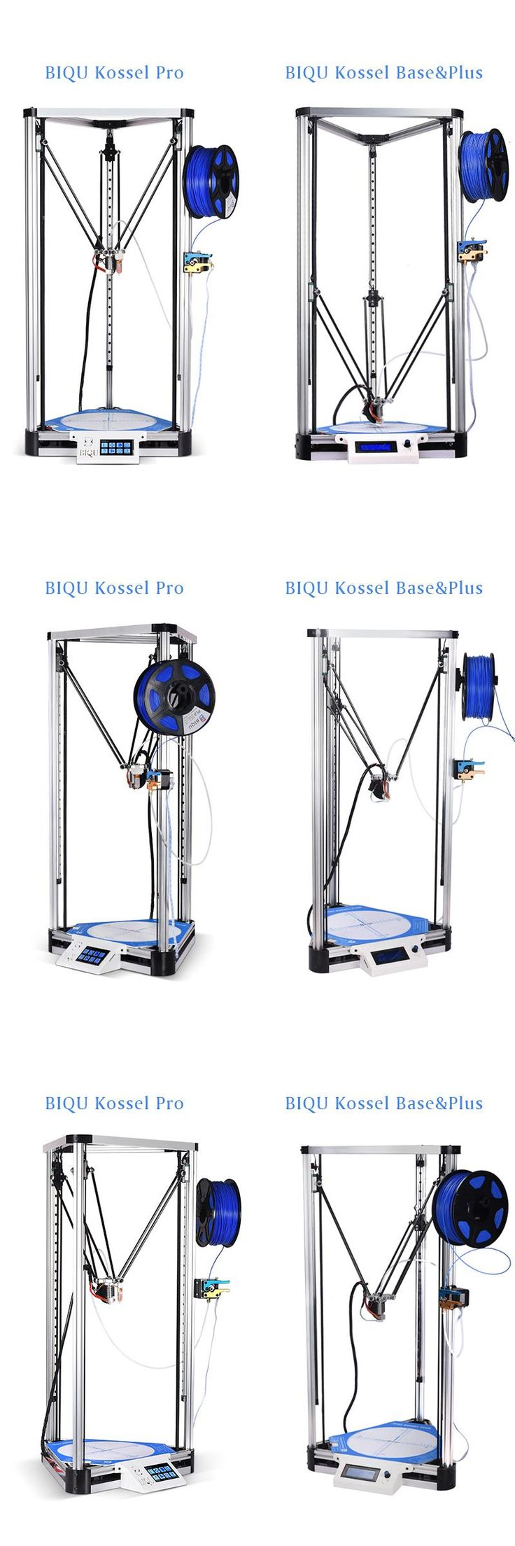 [Visit to Buy] BIQU 3D metal Printer Kossel Base/Plus/Pro Delta Linear Guide DIY Kit Auto Leveling Large Print Size 2004LCD/TFT35 Touch Screen #Advertisement