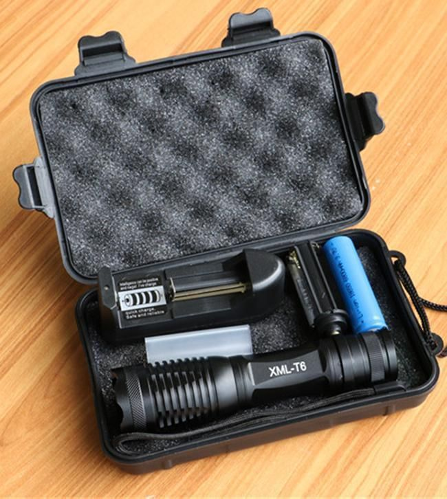 CREE XML T6  LED Flashlight, 8000 Lumens, With Charger and 18650 Battery