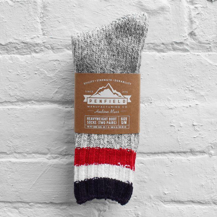 Penfield Sherwood Hiking Socks Grey