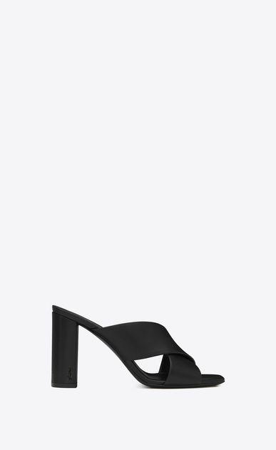 2e6742da72f92 SAINT LAURENT Loulou Woman loulou 95 mule sandal in black leather a V4