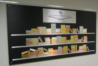 Beautiful Donor Recognition Wall for a library, school, university, etc.