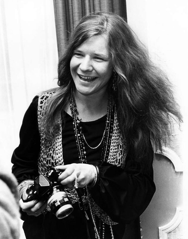 Janis Joplin  vintage everyday: Celebrities as Photographers – 31 Interesting Photos Show Famous People With Their Nikon F Cameras