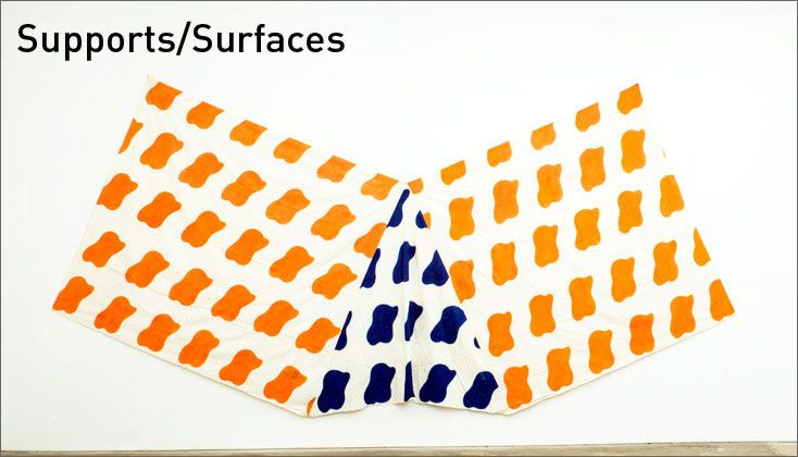 upports/Surfaces is an artistic movement that coalesced in Southern France in the late 1960s through the shared concerns of twelve artists dedicated to liberating painting, and everyday life, from the artistic conventions and social inequities of the post-war period.  At Reed College Gallery