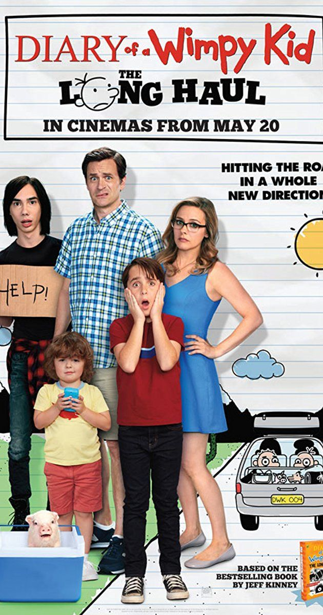 Diary Of A Wimpy Kid Long Haul Directed By David Bowers With Jason Drucker Alicia Silverstone Tom Everett Scott Ch Wimpy Kid Wimpy Kid Movie Kid Movies