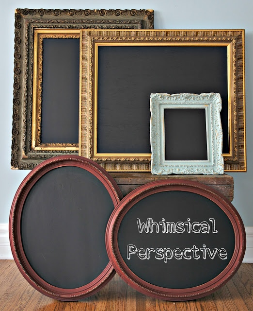 Chalkboards.... I love them. Need to hit the thrift stores & yard sales.