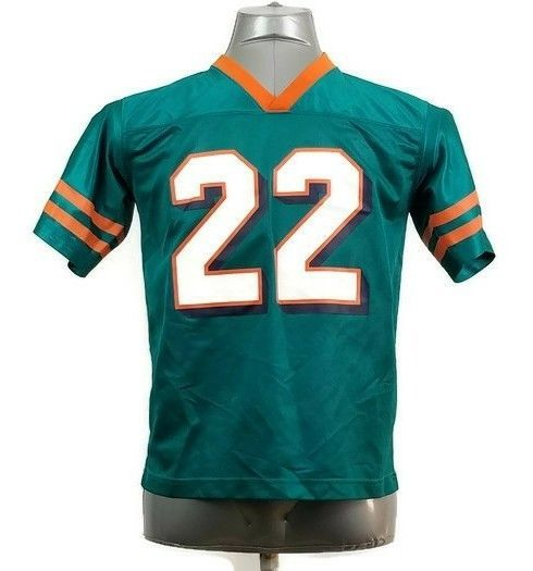 Miami Dolphins Large NFL #22 Reggie Bush Jersey Youth 12 - 14 Team Apparel Mint #NFLTeamApparel #Everyday