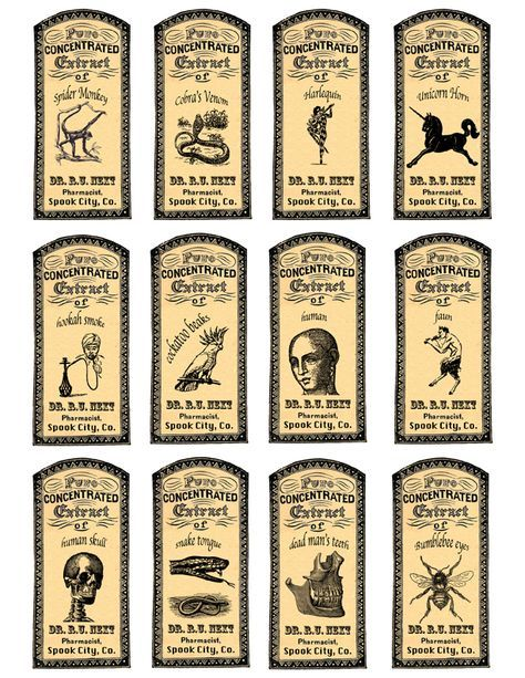 More apothecary labels for vintage bottles.