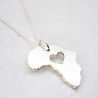 Africa Heart Necklace - We Heart This
