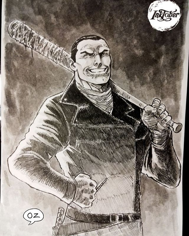 Inktober #22 Negan (comic version)