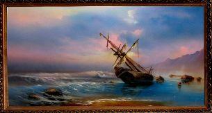 Шторм на море - Морской пейзаж <- Картины маслом <- Картины - Каталог | Универсальный интернет-магазин подарков и сувениров