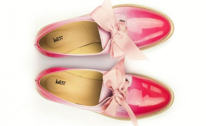 Scandinavian Chic - Elegant shoes made of natural leather in white and pink color. Sooo cute! <3