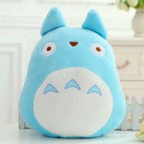 Totoro Shape Cartoon Cushion Blue Pillow