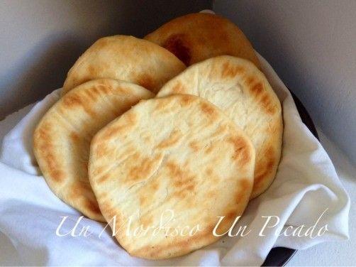 """Pan """"Naan"""" o pan hindú para #Mycook http://www.mycook.es/receta/pan-naan-o-pan-hindu/"""