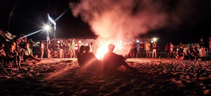 Bonfire on the beach in Vama Veche