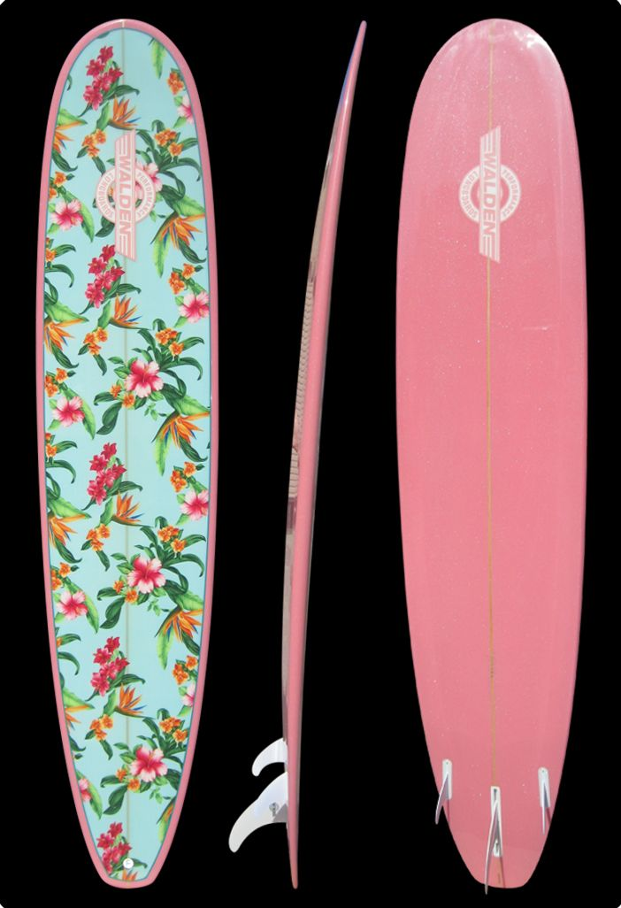 Floral Print Longboard Google Search Surfboards Walden