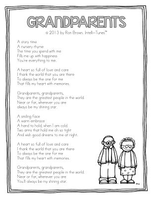 "Song, ""Grandparents"" (by Ron Brown / Intelli-Tunes via Teacher Idea Factory; can hear a snippet on this site)"