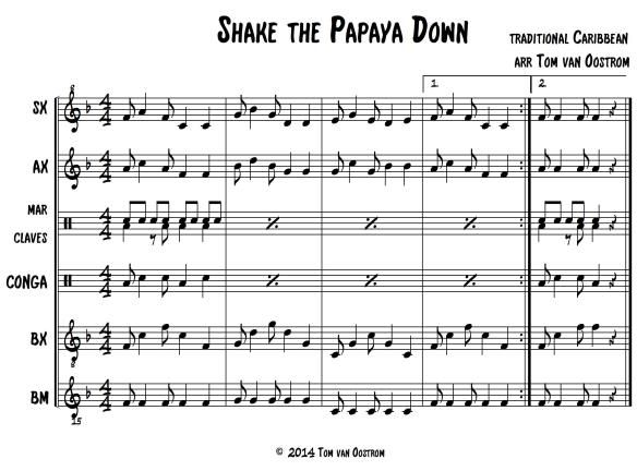 Shake the Papaya Down and other orff arrangements.