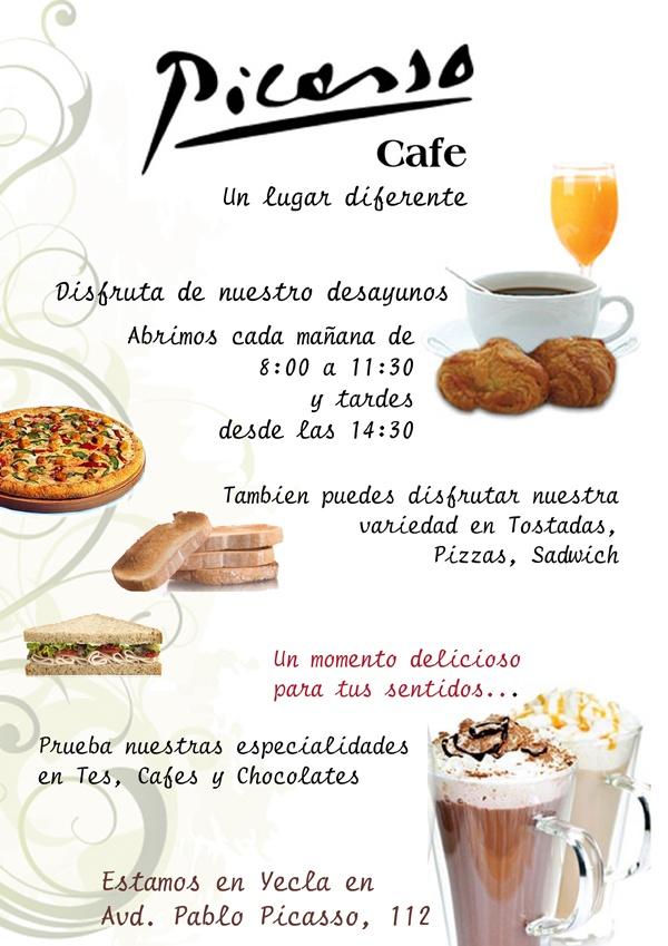Ven a cafeteria picasso a disfrutar de nuestros desayunos for Proyecto de cafeteria escolar