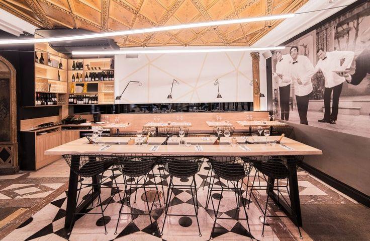 Photo restaurant - Photographe professionnel © Stéphane Adam Canard & Champagne à Paris, Passage des Panoramas.