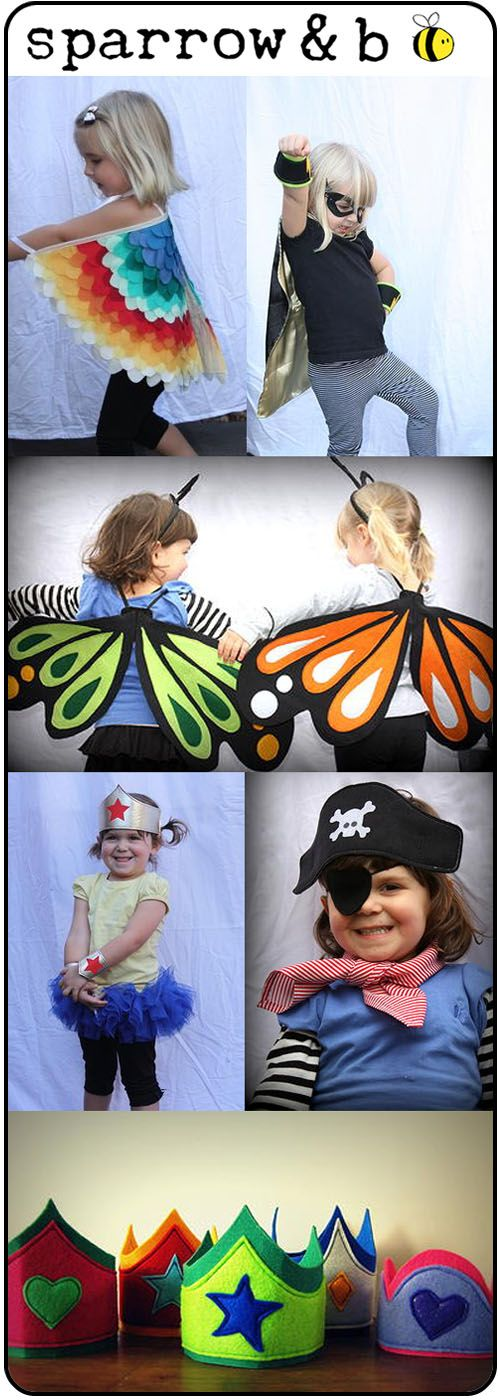 Some of the most memorable times I've spent with my kids has been watching them play 'dress-ups'. From fairies to doctors, they have so much fun playing togethe