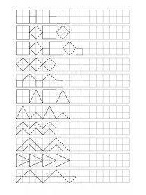 Librairie-Interactive - Frises géométriques à compléter