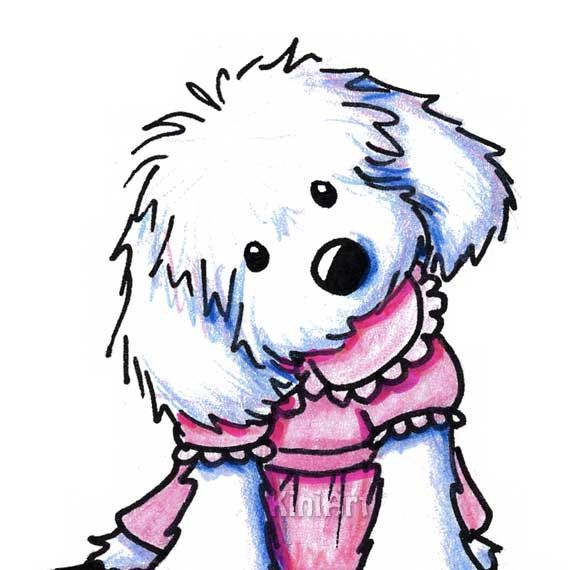 maltese dog clipart - photo #29
